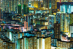 Kowloon downtown at night Stock Image