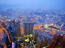 Kowloon, Hong Kong Cityscape Stock Images