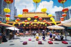 Kowloon, Hong Kong - 11 de agosto de 2017: Wong Tai Sin imagem de stock