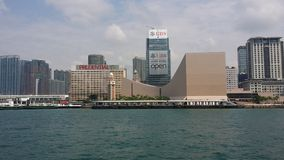 Kowloon Hong Kong horisont Arkivfoton