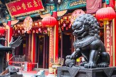 Kowloon Hong Kong - JULI 7 th 2017: Wong Tai Sin Temple Royaltyfria Foton