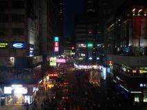 Kowloon Hong Kong Night Royaltyfria Foton