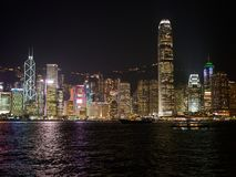 The skyline of Hong Kong during the evening royalty free stock photo