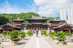 Kowloon, Hong Kong - September 23, 2016 : Chi Lin Nunnery, beaut Stock Images
