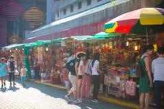 Kowloon, Hong Kong - 23 settembre 2016: Negozio di incenso nella parte anteriore Fotografia Stock Libera da Diritti