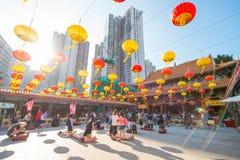 Kowloon, Hong Kong - 23 settembre 2016: Wong Tai Sin Temple, f Fotografia Stock Libera da Diritti