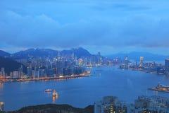Kowloon and Hong kong sky Stock Photo