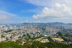Kowloon landskap Arkivfoton