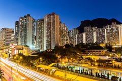 Kowloon with lion rock Royalty Free Stock Photos