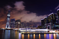 Kowloon at night Royalty Free Stock Photos