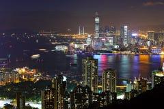 Kowloon at night. Kowloon city view at night Royalty Free Stock Photography