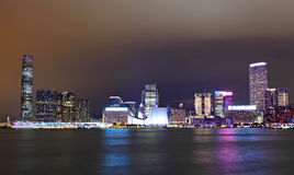 Kowloon at night Stock Image