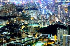 Kowloon at night Stock Photos