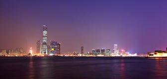Kowloon at night. Kowloon in Hong Kong view at night Stock Photo