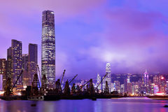 Kowloon at night Royalty Free Stock Image