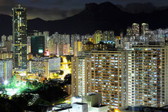 Kowloon at night Stock Images