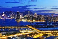 Kowloon night Royalty Free Stock Image
