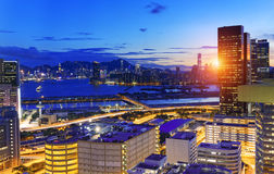 Kowloon night Royalty Free Stock Photography