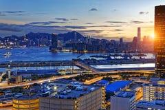 Kowloon night Royalty Free Stock Photo