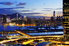 Kowloon at night Royalty Free Stock Photography