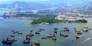 Kowloon och nya territorier, Hong Kong royaltyfri fotografi