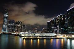 Kowloon på natten arkivbilder