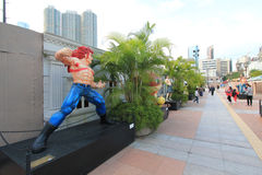 Kowloon Park Avenue of Comic Stars in Hong Kong Stock Images