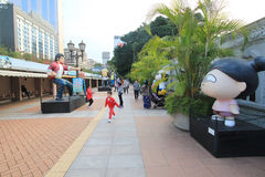 Kowloon Park Avenue des étoiles comiques en Hong Kong Photographie stock libre de droits