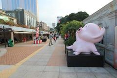 Kowloon Park Avenue des étoiles comiques en Hong Kong Images stock