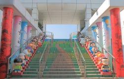 Kowloon Park Avenue komiczka Gra główna rolę Hong Kong obraz stock