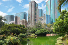 Kowloon park in the Hong Kong Stock Photos