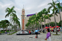 Kowloon Railway Clock Tower Square Royalty Free Stock Photography