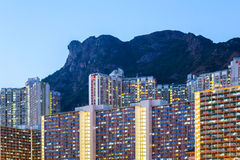 Kowloon residential building Royalty Free Stock Photo