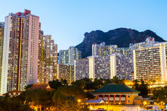 Kowloon residential building Royalty Free Stock Images