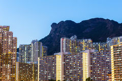 Kowloon residential building Royalty Free Stock Photography