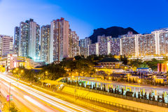 Kowloon residential district in Hong Kong Royalty Free Stock Photography