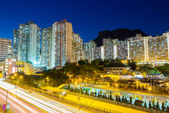Kowloon residential district in Hong Kong Stock Image