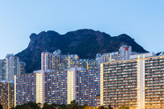 Kowloon residential district Royalty Free Stock Photography