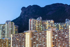Kowloon residential district Royalty Free Stock Photo