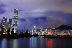 Kowloon side in Hong Kong Stock Image