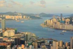 Kowloon side , Hong Kong Skyline Stock Photo
