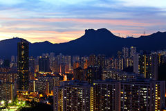 Kowloon side in Hong Kong Royalty Free Stock Images
