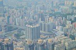 Kowloon side view Hong kong isaland Stock Image