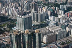 Kowloon side view at ICC Royalty Free Stock Images
