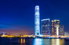 Kowloon skyline in Hong Kong Royalty Free Stock Photo