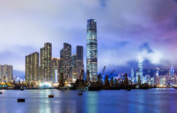 Kowloon skyline in Hong Kong Royalty Free Stock Photos