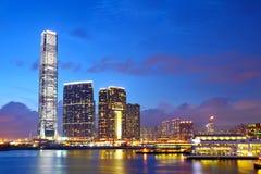 Kowloon som är i stadens centrum i Hong Kong arkivbilder
