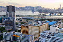 Kowloon at sunset Royalty Free Stock Photos