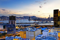 Kowloon at sunset Royalty Free Stock Photo