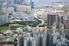 Kowloon view. This photo is taken from Tze Wan Shan (mountain) in Kowloon, Hong Kong stock photos